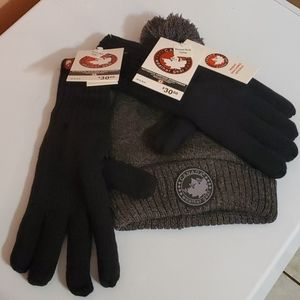 Canada goose hat and glove combo new with tags